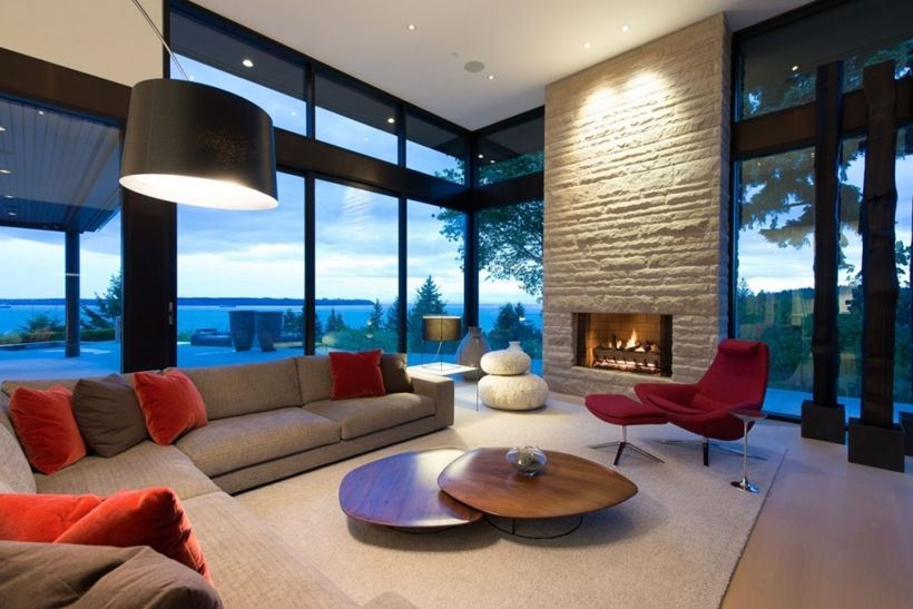 Elegant Modern House In West Vancouver Canada