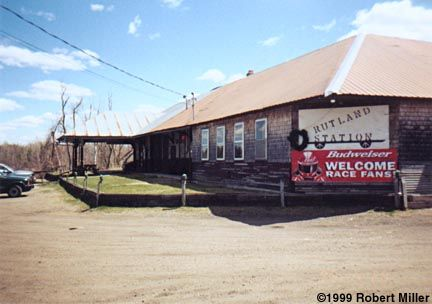 Rutland Station in Moira, NY.  A real train station in its day but today it is a place of worship.  Previously a bar and grill and located only a few places from where I used to live on Rt. 95. My uncle used to own the RR track from here to the Sayles Road.