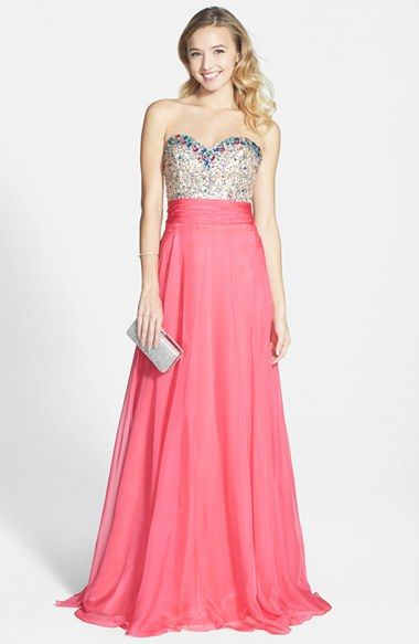 Nordstrom: Mac Duggal: This is a perfect prom dress for a girl who ...