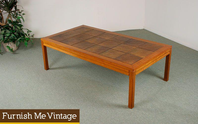 Danish Modern Teak Tile Coffee Table Tiled Coffee Table