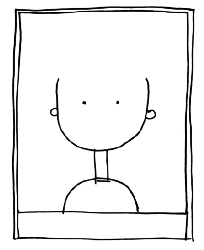 Self Portrait Template, i love this!