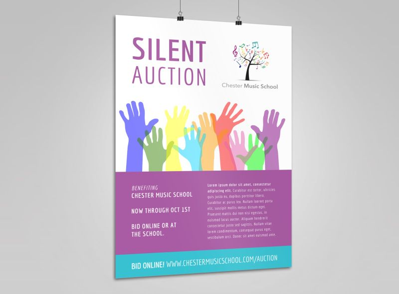 Silent Auction Poster Template Silent Auction Poster Template