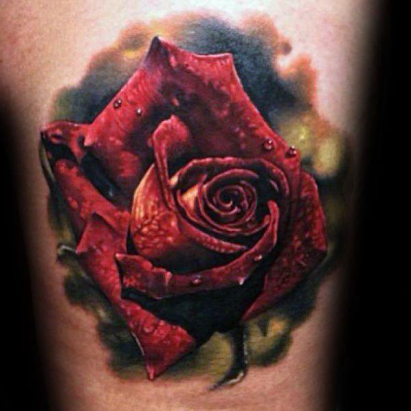 38336c50d 90 Realistic Rose Tattoo Designs For Men - Floral Ink Ideas | Dövme ...