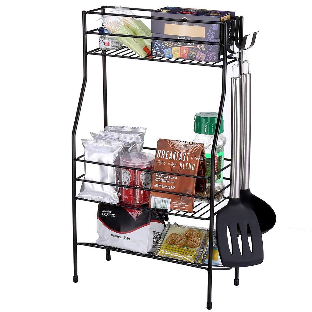 Brilliant Rackaphile 3 Tier Storage Rack With Removable Hooks Kitchen Download Free Architecture Designs Aeocymadebymaigaardcom