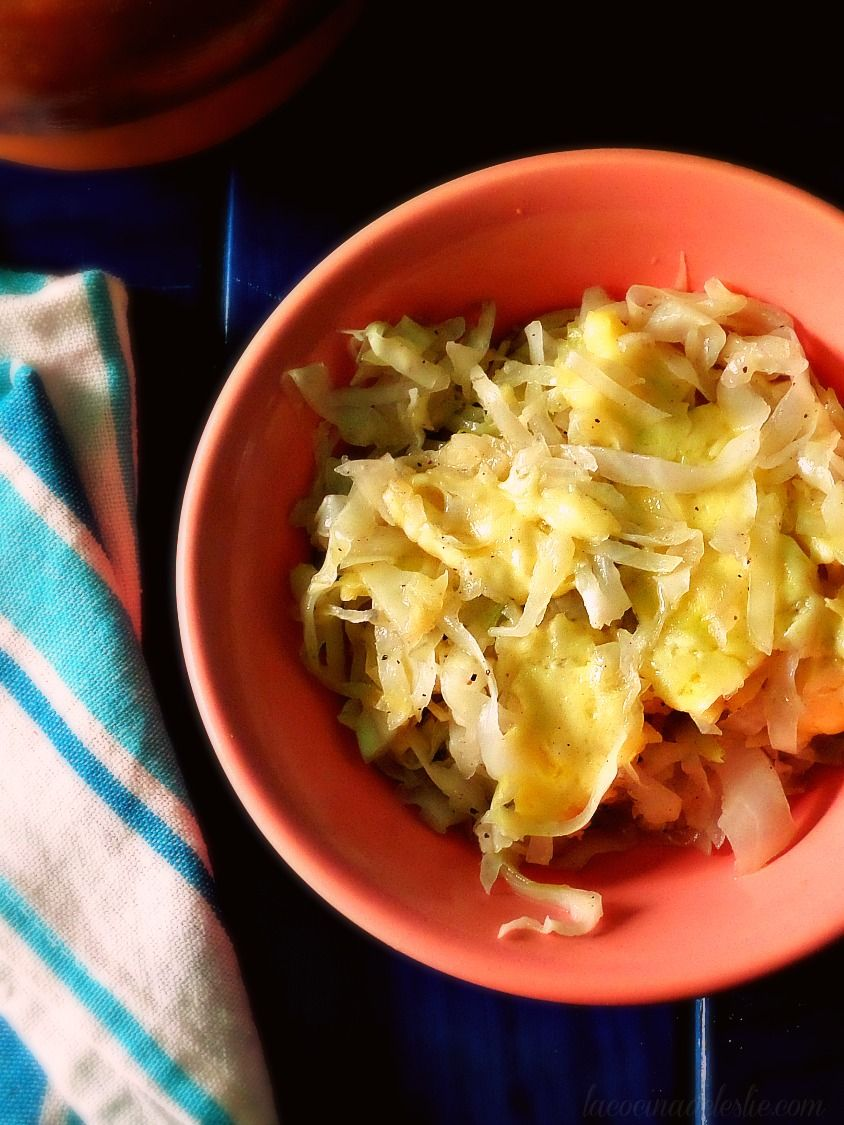 Comfort food classics repollo guisado sauteed cabbage
