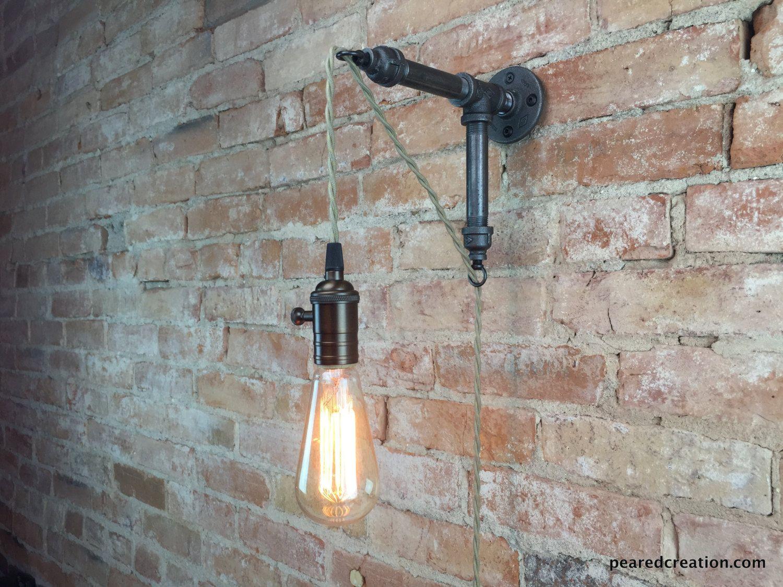 Applique lampada industriale ciondolo di newwineoldbottles il