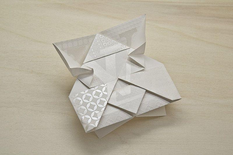 Printed origami invitation for Louis Vuitton