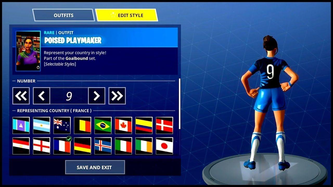 Red Soccer Skin Fortnite World Cup New Fortnite Soccer Skins Edit Mode Showcase Youtube Di 2020