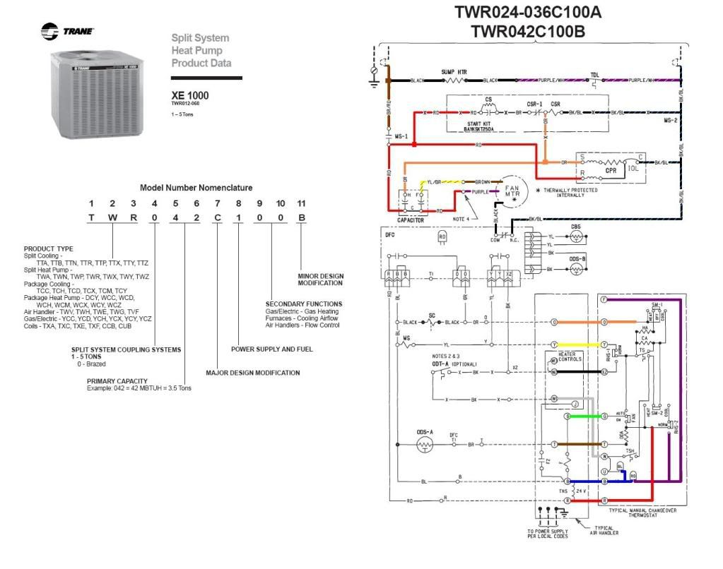 Trane Heat Pump Wire Diagram | Wiring Liry
