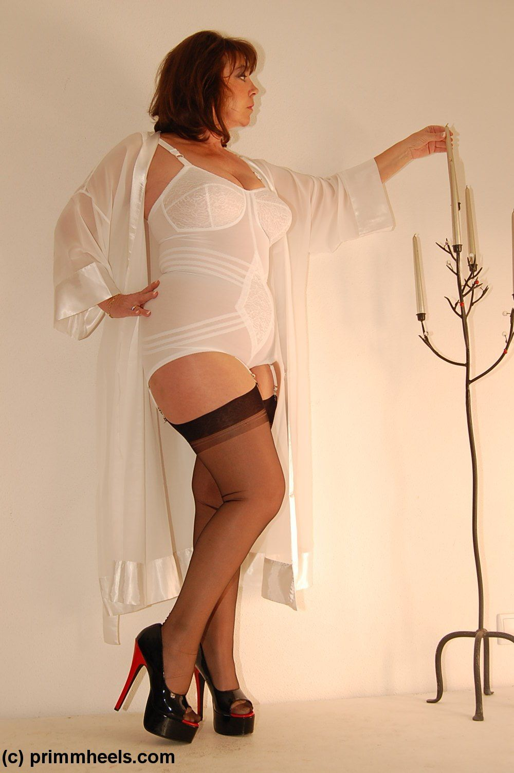 girdle curvy Mature