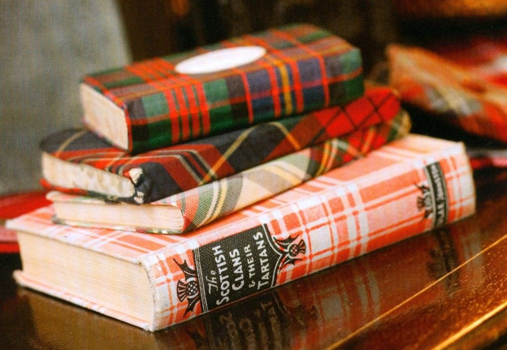 Wrap books in Christmas paper!  Too cute!