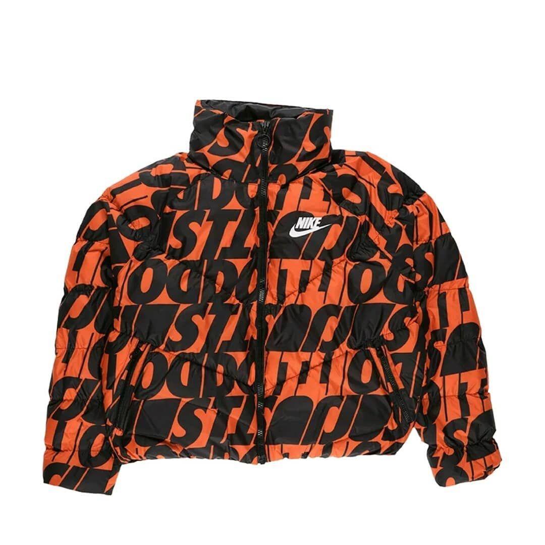 Women S Nike Just Do It Puffer Jacket Orange Black Ci5023 891 Nike Women Athletic Jacket Puffer Jackets [ 1080 x 1080 Pixel ]