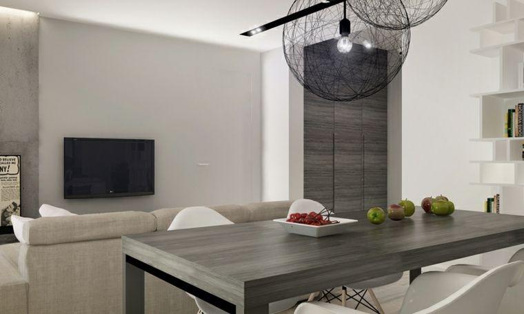 Séjour contemporain  75 exemples de décoration Modern and House - salon sejour cuisine ouverte