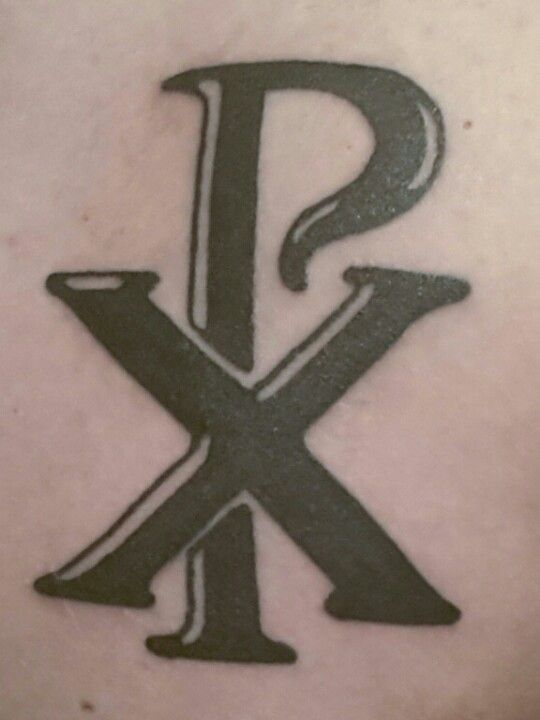 My New Tattoo The Chi Rho Number Three Pinterest Chi Rho