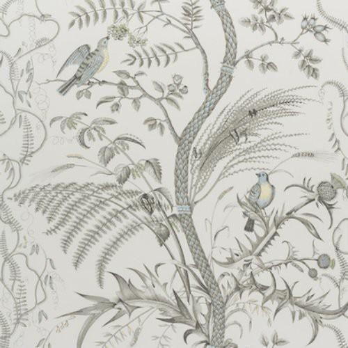 Brunschwig Fils Bird And Thistle Cotton Print Aqua Fabric In 2021 Aqua Fabric Thistle Print Fabric Birds