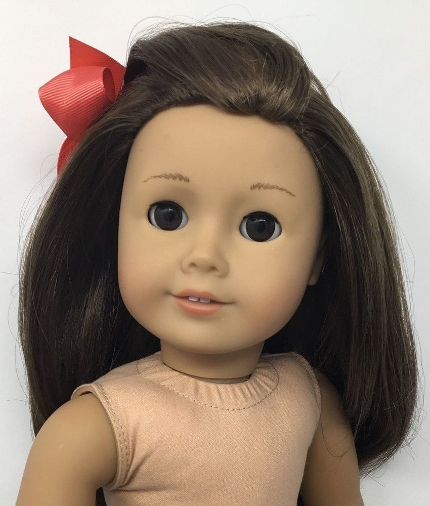 American Girl Doll Brown Hair W Brown Eyes Excellent Cond
