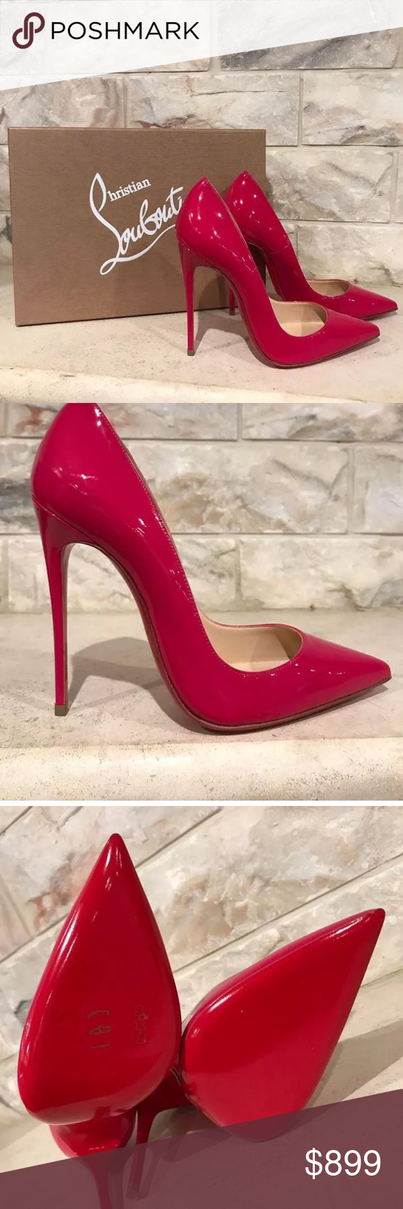 b9f364a2d2f Louboutin So Kate Heels Christian Louboutin So Kate 120 Pink Rosa Patent  Leather Heel Brand  Christian Louboutin Size  42 (know your Louboutin size)  Name  ...