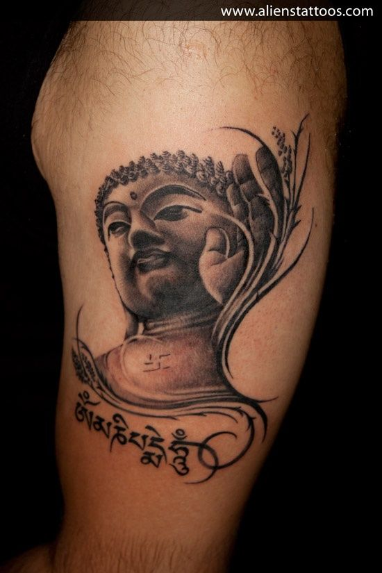 Arm Buddha Tattoo Designs Check Out This Cool Buddha Tattoo Tattoo And Scripture Tattoo Designs Buddha Tattoo Design Alien Tattoo