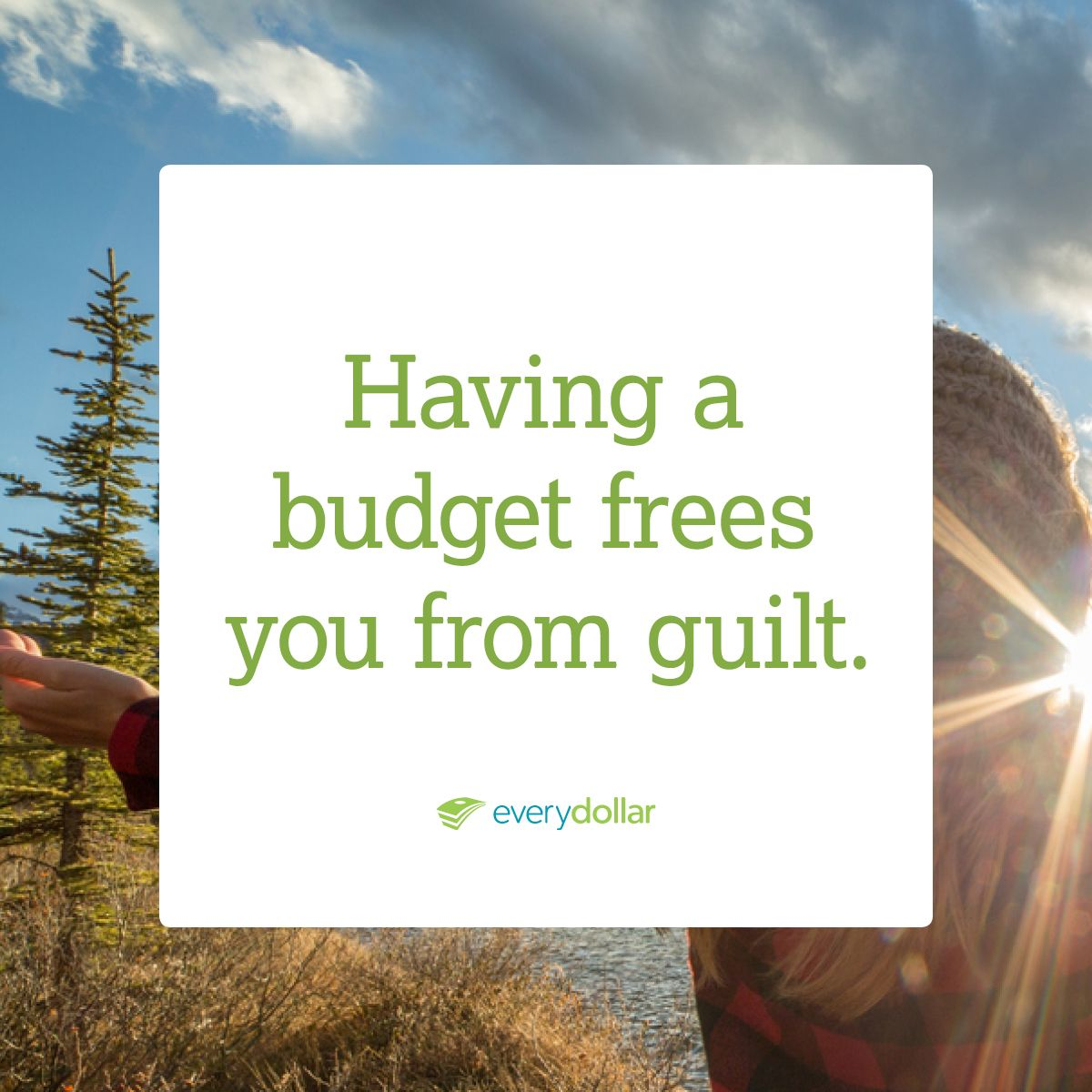 There is no guilt in spending when it is already planned