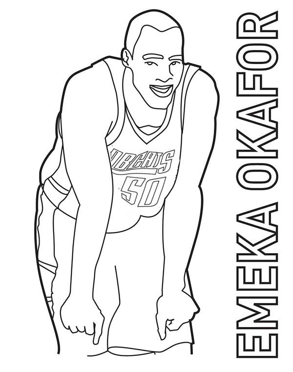 Emeka Okafor Is Nba Player Coloring Page Color Luna In 2020 Nba Players Basketball Players Coloring Pages