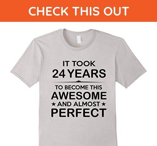 Mens Twenty Four 24 Year Old 24th Birthday Gift Ideas Her Him Medium Silver