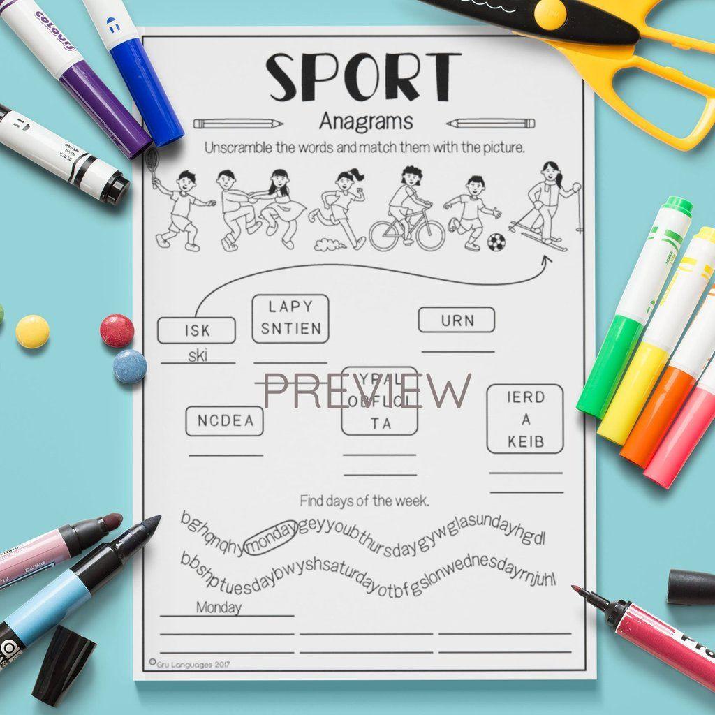 Sport Anagrams In