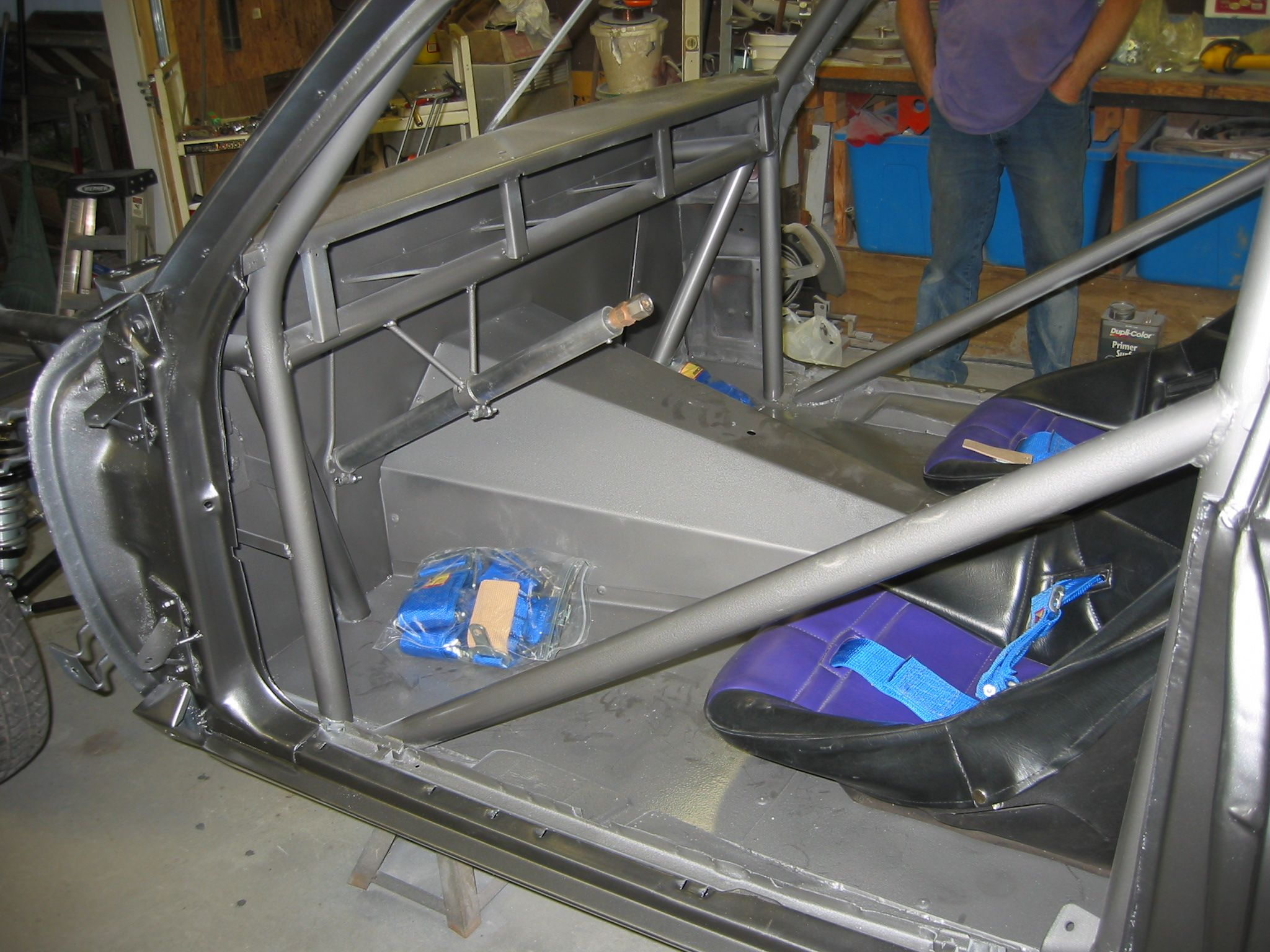 Driver Side Look Inside Of The Car Sheet Metal Work Firewall Steering Column And Roll Bar Sheet Metal Work Metal Working Steering Column