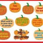 Encourage your students to plant a Patch of Politeness with this bright and cheerful bulletin board kit.  This kit contains 14 pumpkins of varying ...