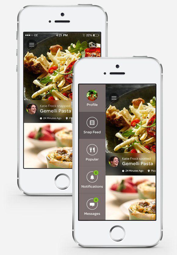 30 Tasty Food Mobile App Designs for Foodies | Mobile application ...