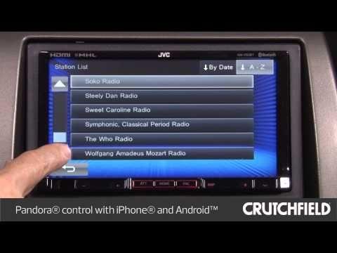 JVC KW-ADV65BT Car DVD Receiver Display and Controls Demo