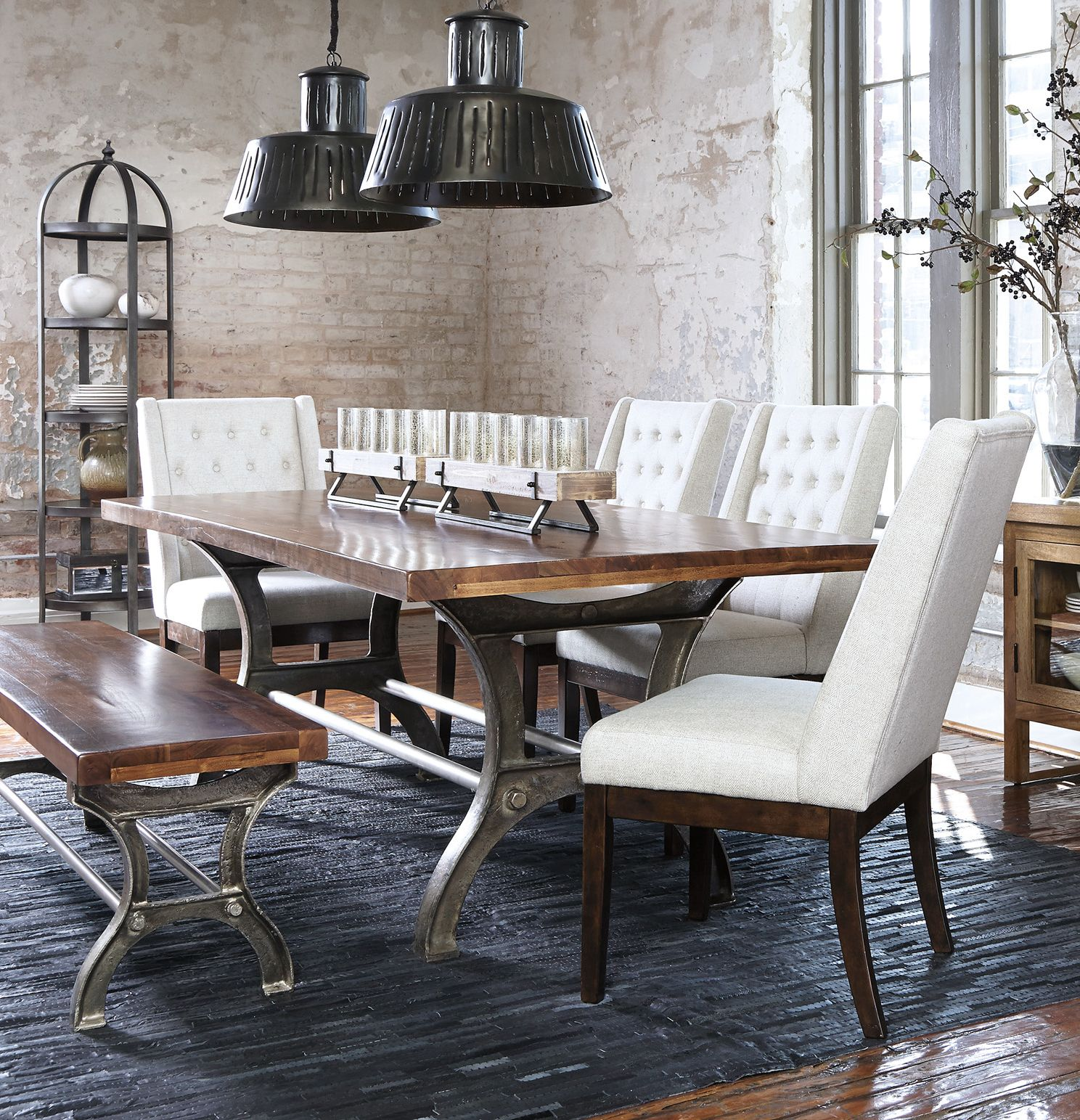 Sleek and sophisticated dining room set will definitely make a style ...