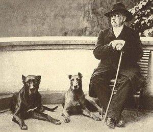 Otto von Bismarck and dogs. Otto von Bismarck se svými psy