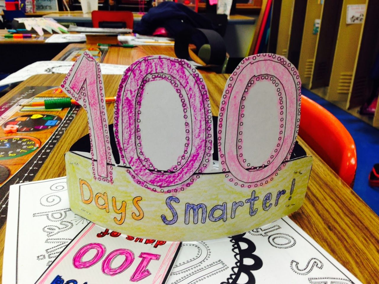 Freeebie Happy 100th Days Of School Activities And Hat