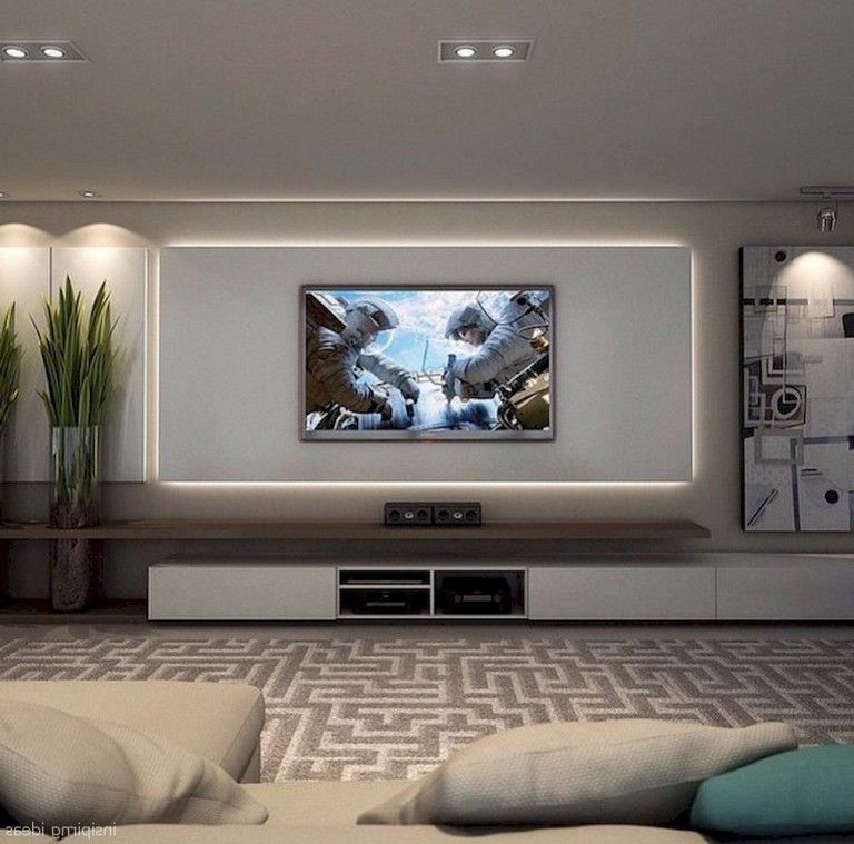 Living Room Ideas With Tv On Wall Wowhomy