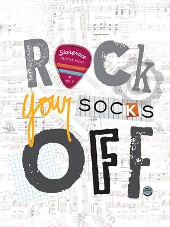 rosenberryrooms is offering  20 OFF your purchase! Share the news and  save! Rock Your Socks Off Poster Wall Decal  rosenberryrooms fc3eb11761d