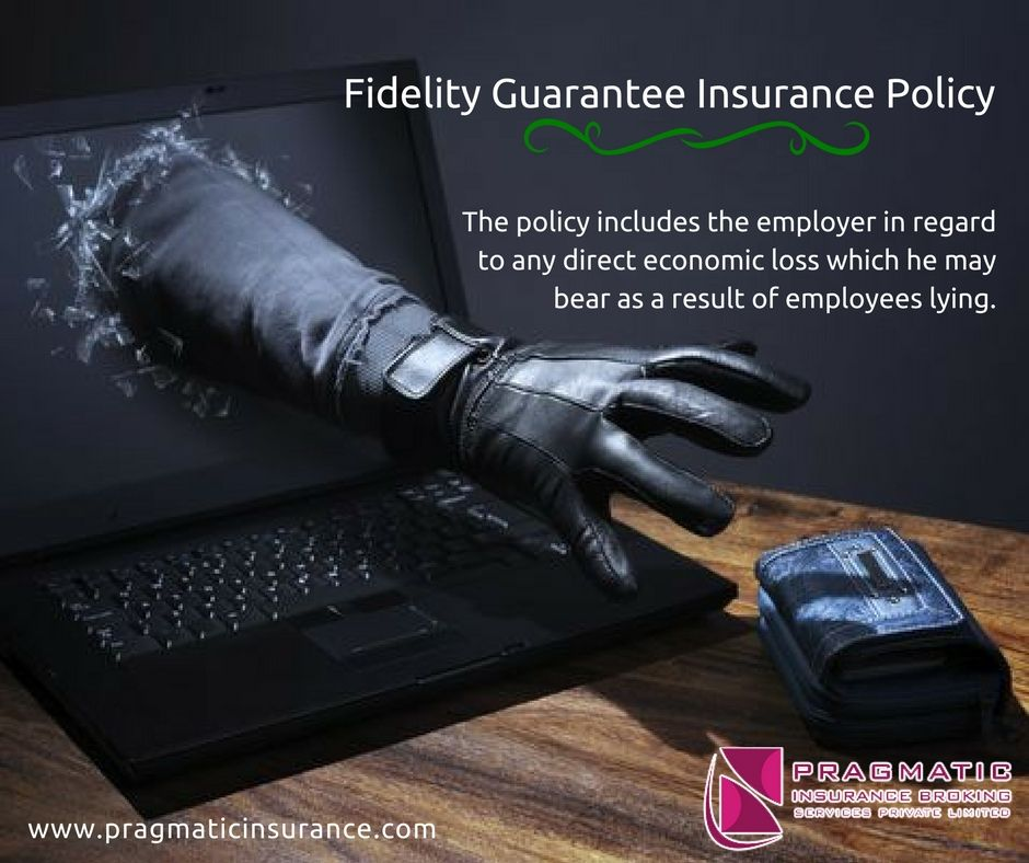 Fidelity guarantee insurance policy the policy includes