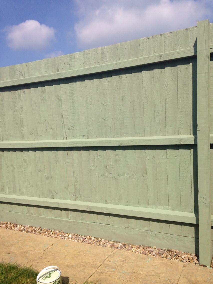Cuprinol shades - willow. Fence paint. | Garden fence