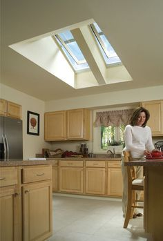 Velux Windows In Vaulted Ceilings Where The Roof Is Higher