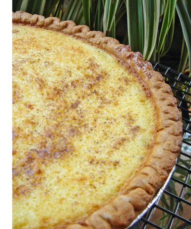 Grandma S Egg Custard Pie Recipe Food Com Recipe Custard Pie Recipe Desserts Custard Pie