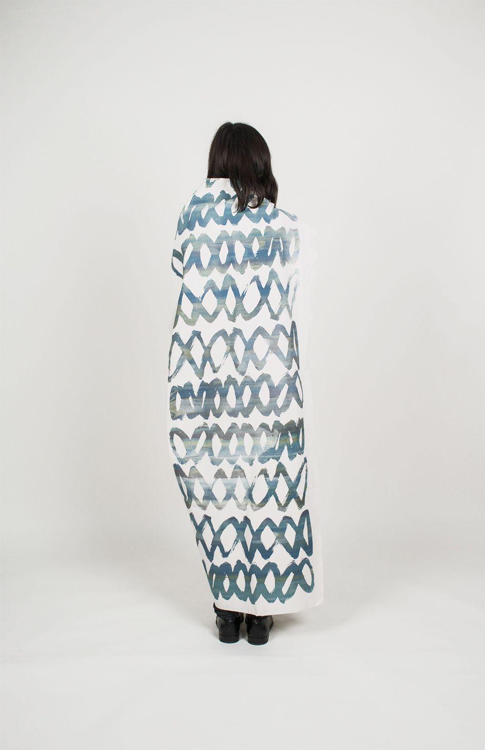 screenprinted scarf atomir