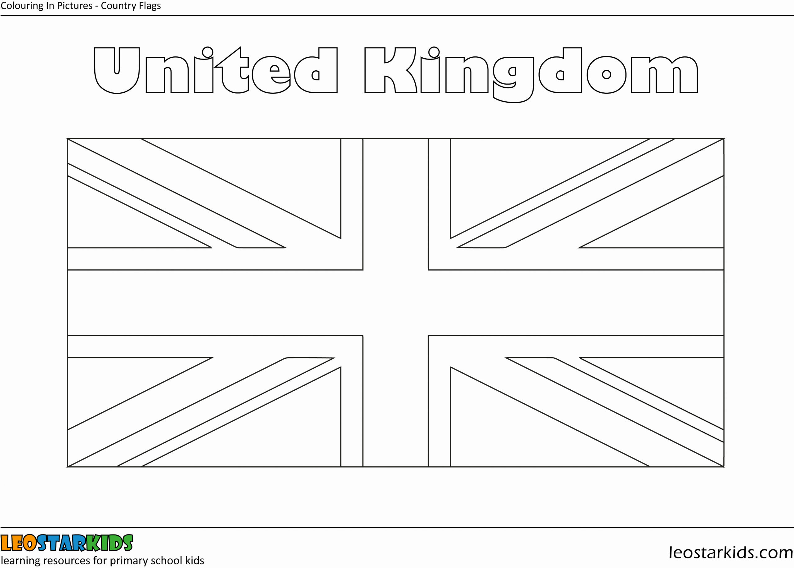 Uk Flag Coloring Page Best Of Colouring In National Flags Leostarkids In 2020 Flag Coloring Pages Uk Flag Coloring Pages