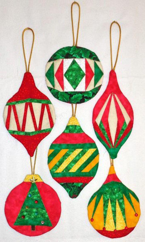 Christmas Ornaments Pattern DW2-148   Patchwork - Drobnosti,hračky ...
