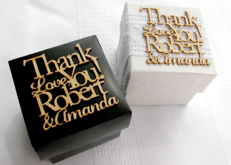 Laser Cut Wedding Favor Candy Boxes