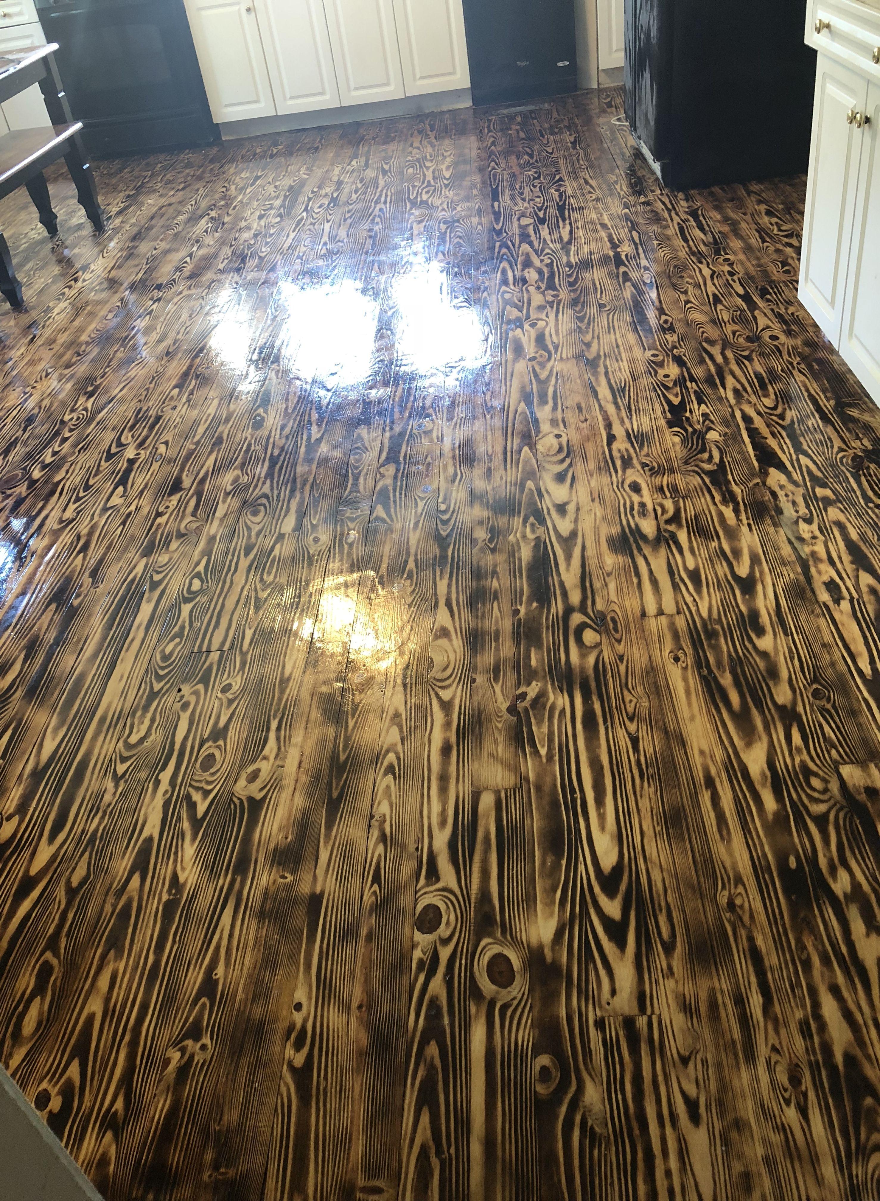 Burnt Wood Kitchen Floor Flooring Kitchen Flooring Wood Kitchen