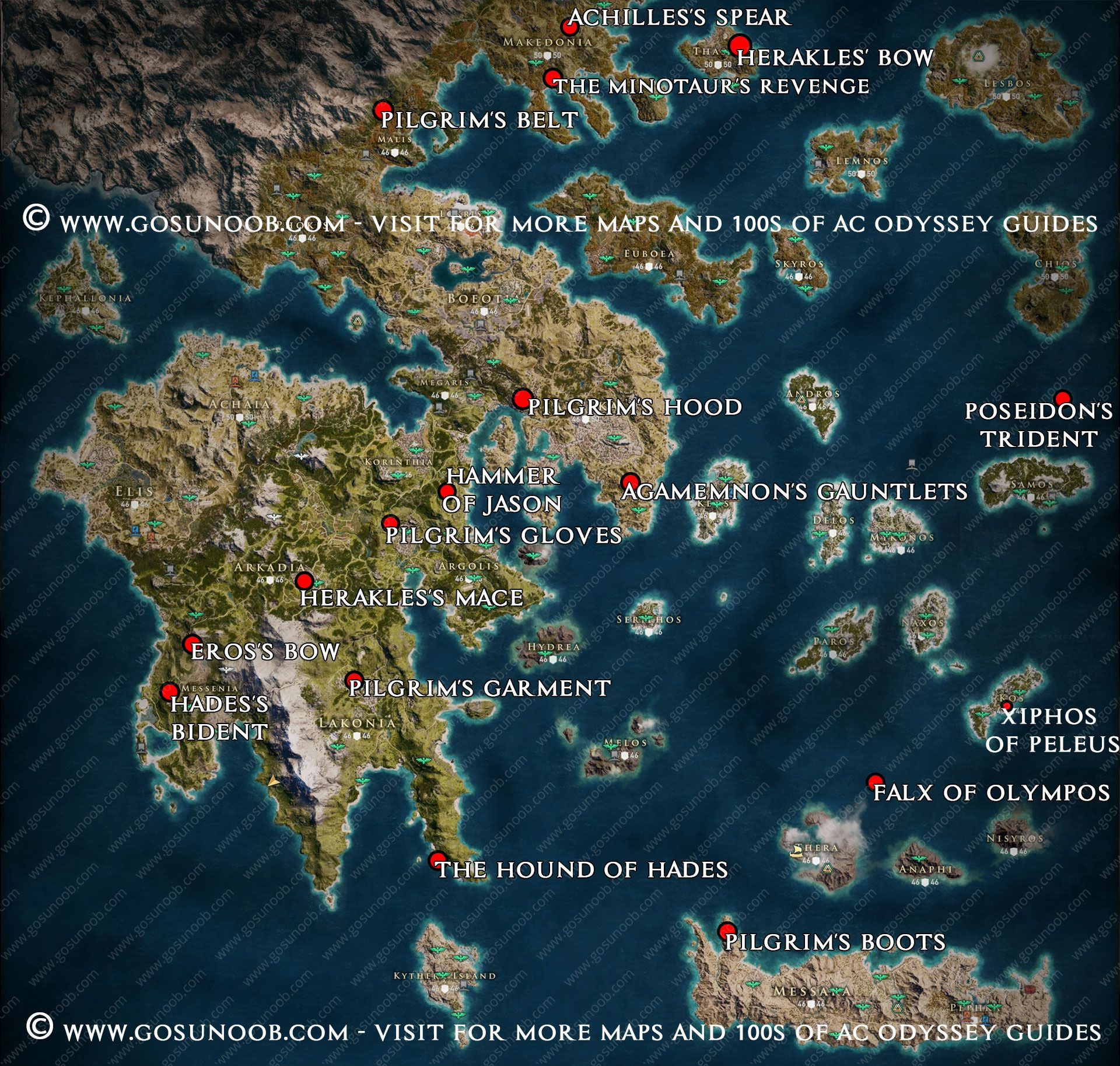 Assassin S Creed Odyssey Legendary Chest Map Locations Assassins