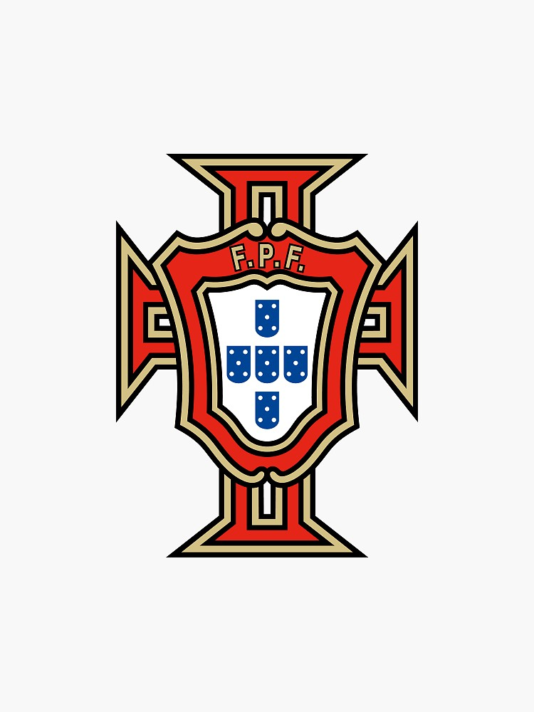 Portugal Soccer Logo Sticker By Andy Quan In 2020 Portugal National Football Team Football Team Logos Portugal Football Team