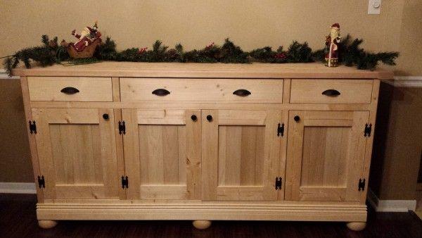 Planked Wood Sideboard DIY