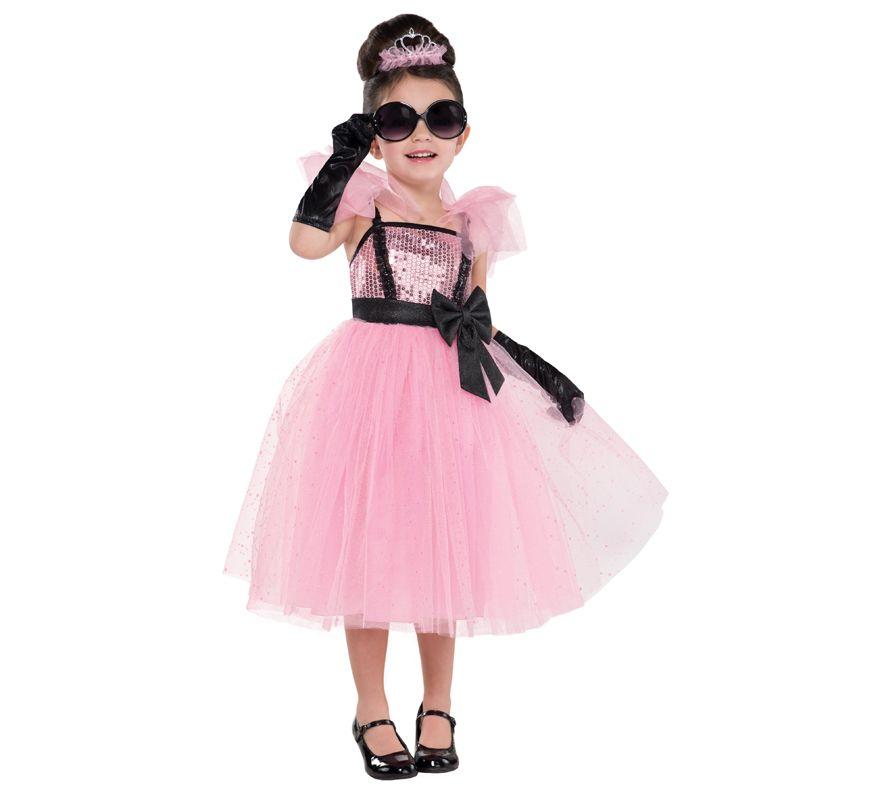 Disfraz de princesa glam de Hollywood para niñas | Disfraz de ...