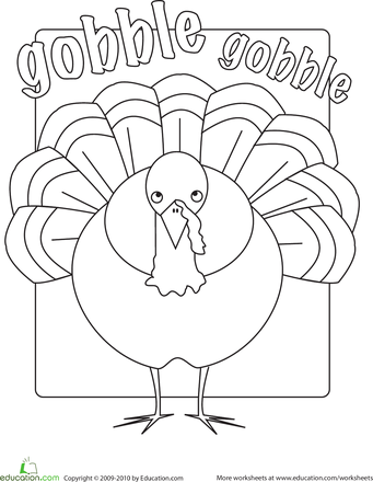 Gobble Gobble Worksheet Education Com Coordinate Graphing Activities Football Coloring Pages Graphing Activities