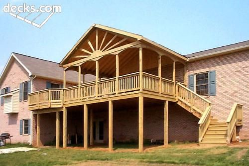 Pressure Treated Deck With Gable Roof Gable Roof Fibreglass